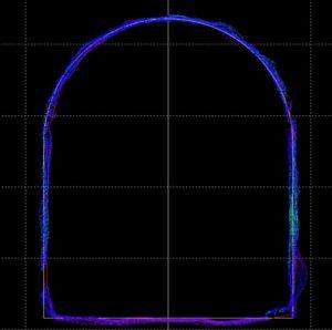 perfil tunel auscultacion geocaptiva