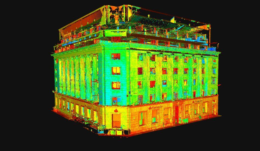 Escaneo edificio Bilbao Santander