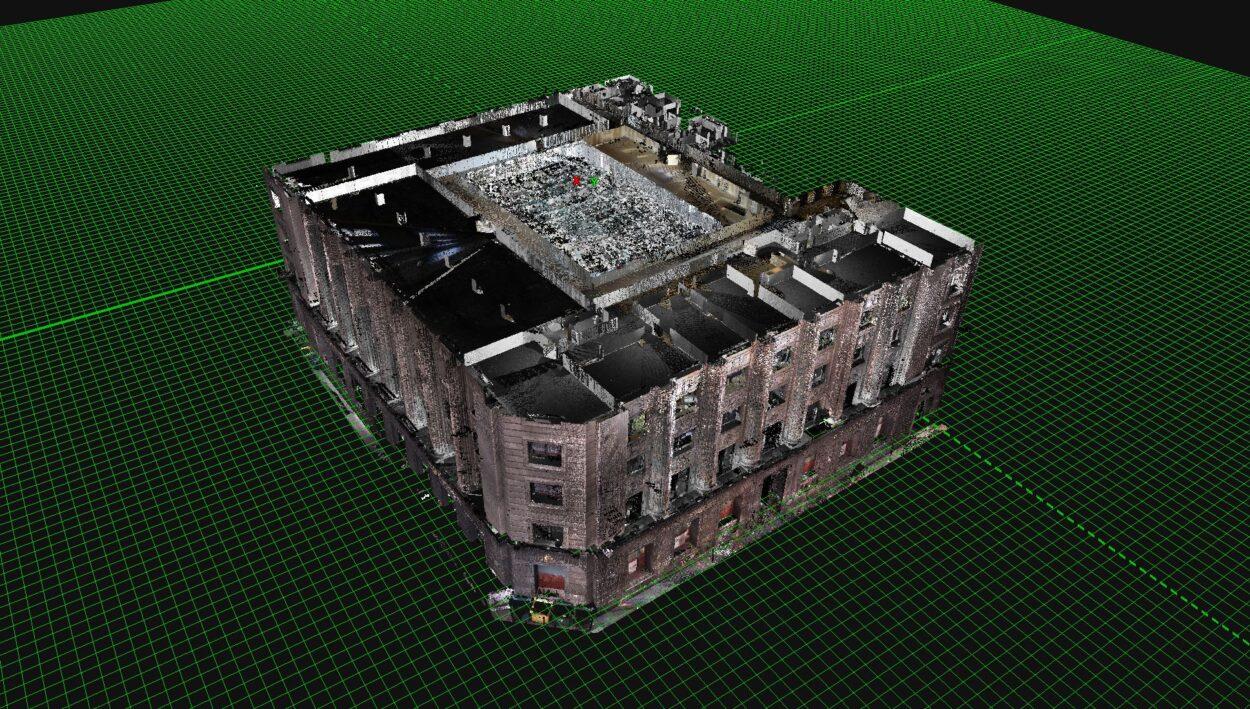 Escaneo edificio banco santander Bilbao